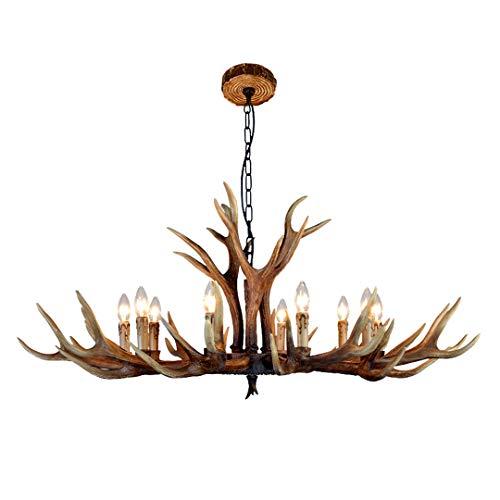 HFMY Geweih Kronleuchter,mit Antler Kronleuchter Lampe 10 Hirschgeweih Leuchte,Gehörn,Rothirschgeweih,Jagdhaus,Landhaus(Ohne Glühbirne)