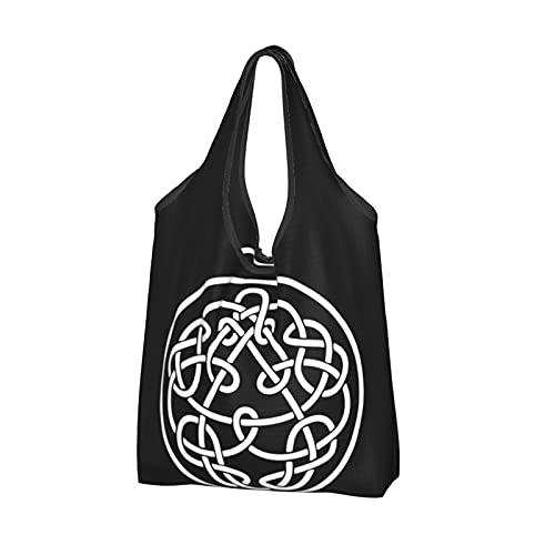 King crimson Discipline キング・クリムゾン 再利用可能な食料品バッグ折りたたみ可能な防水ショッピングバッグ50LBS特大トートバッグ