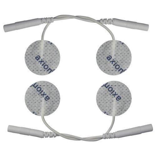 4 kleine Elektroden-Pads Ø30mm für Reizstrom-Akupunktur - TENS EMS - axion