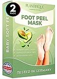 maschera piedi esfoliante - foot peel mask dermatologicamente testata, efficace peeling piedi, scrub piedi e rimozione calli dei piedi - foot mask all'avocado confezione da 2 by plantifique