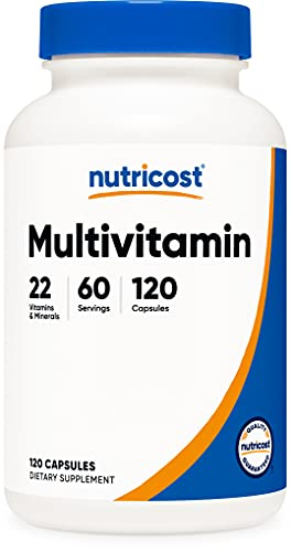 Nutricost Multivitamin 120 Vegetarian Capsules - Packed with Vitamins & Minerals