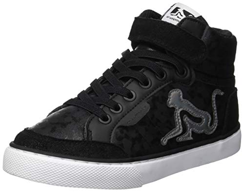 DrunknMunky Boston Camu, Sneaker a Collo Alto Bambina, Nero (Black Silver B52), 28 EU