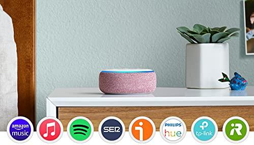 Echo Dot (3.ª generación) - Altavoz inteligente con Alexa, tela de color malva