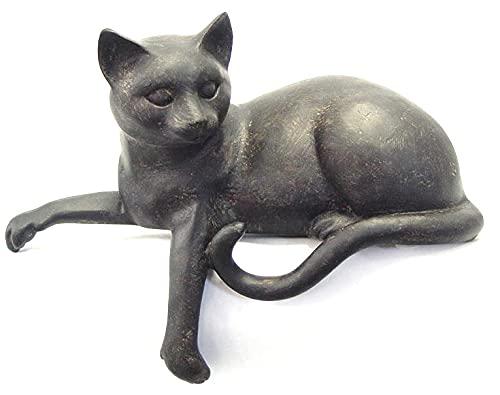 Moritz Figura decorativa de gato, 20 cm, polirresina