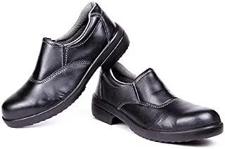 Hillson Women's LF2 Black Leather Tech Safety Shoes (6)