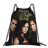 The Vampire DiAries Drawstring Backpack Sports Gym Bag for Women Men Children Large Size Nylon Beach Bag for Gym Shopping Sport Yoga Drawstring closure
