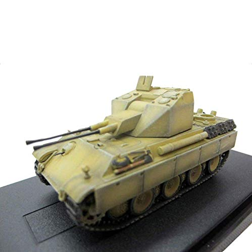 JHSHENGSHI 1/72 Modelo de Tanque WWII Alemania Defensa aérea Leopardo Tanque de Batalla Principal, Juguetes Militares y Regalos