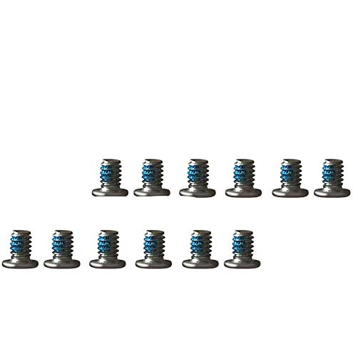 12 PCS M2x3mm Silver Torx T5 Replacement Case Base Cover Screw Compatible with Dell XPS 13 9343 9350 9360, XPS 15 9550 9560, Precision M5510 Series Laptop