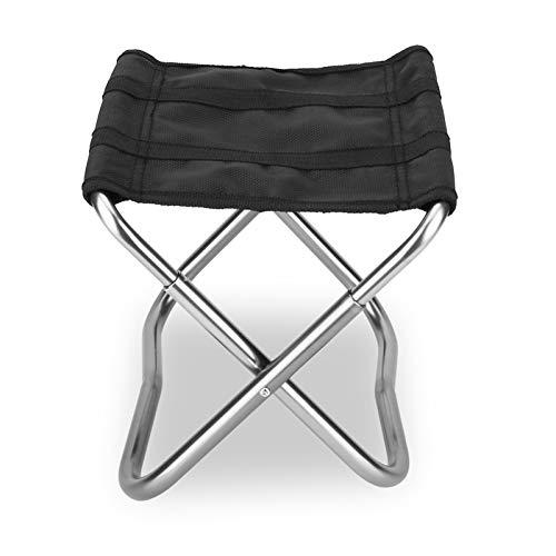 T-ara Suave y confortable Con una capacidad de carga de hasta 90 kg, taburete de senderismo, asiento de acampación, jackanapes fuera de la funda de pesca plegable de aleación de aluminio diseño de mod