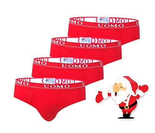 TrendyBoy Calzoncillos de algodón de Navidad para niños Ropa Interior Calzoncillos de 6-16 años Paquete de 4...
