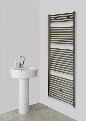 Badheizkörper Design Edelstahl 3, HxB: 177 x 60 cm, 1118 Watt (Marke: Szagato) Made in Germany/Bad und Wohnraum-Heizkörper (Seitenanschluss)
