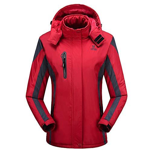 Damen Jacket Air Jacket Winddichte wasserdichte MTB Mountainbike Jacket Visible reflektierend, Warm Jacket für Herbst, Winter Oversize
