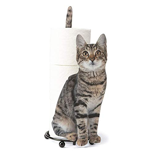 HMMJ Soporte de rollo de inodoro en forma de gato, soporte de toalla de papel de pie, estante de almacenamiento de papel higiénico con 3 rollos de almacenamiento, accesorios de baño para el hogar, hot