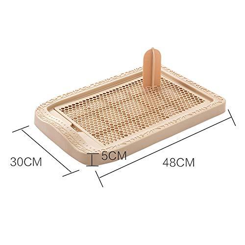 Defecation bloempot voor honden, klein, licht, hoge capaciteit, M(48x30cm), Bruin
