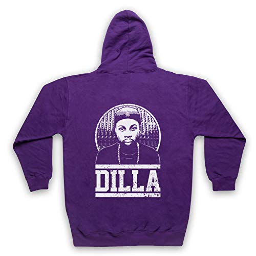 The Guns Of Brixton J Dilla Tribute Sweat a Capuche avec Un Fermeture Eclair des Adultes, Violet, Large