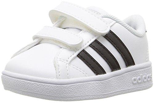 adidas Performance Baby Baseline Sneaker, White/Black/White, 4K M US Toddler