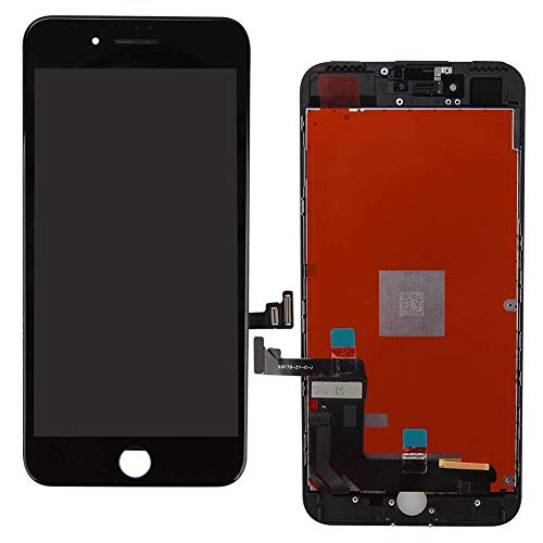 ZTR Replace LCD Glass Screen Fits iPhone 7 4.7 inch Digitizer Assembly Full Complete Frame Set Display Replacement (Black)