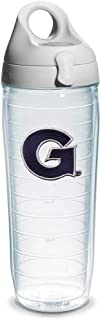 Tervis 1073552 Georgetown University Emblem Individual Water Bottle with Gray lid, 24 oz, Clear