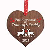 First Christmas As Mummy and Daddy decoration | 1st Xmas bauble ornament new baby
