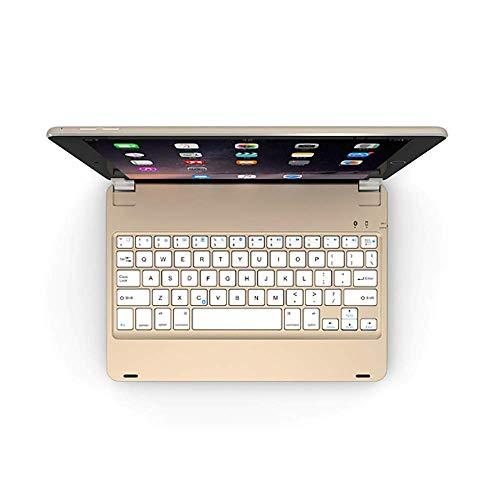Drahtlose Bluetooth-Tastatur, Externer Scharnier-Kartensteckplatz für Tablets, Geeignet für Apple Ipad Air1 / 2 / Pro9.7-65 Key,Gold