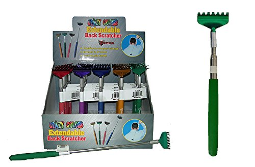 Diamond Visions Max Force 01-0816 Crazy Colors Extendable Back Scratcher in Assorted Colors (1 Scratcher)