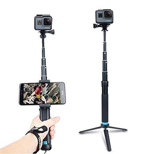 AnKooK Waterproof Selfie Stick Aluminum Alloy Hand Grip Telescopic Handheld Monopod for GoPro...