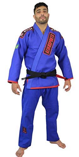Kimono Jiu Jitsu Ouro Keiko Sports Unissex A2 Azul