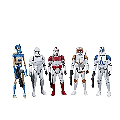 Star Wars Celebrate The Saga Toys Galactic Republic Figure Set, 3.75-Inch-Scale Collectible Action Figure 5-Pack for Kids Ages 4 and Up
