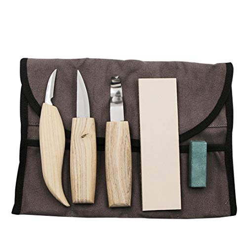 Professional Wood Carving Chisel Set Sharp Hand Woodworking Diy Tools Woodworking Lathe Chisel Set for Beginners 5pcs