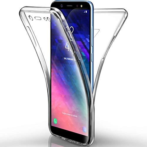 NewTop Cover per Samsung Galaxy A6/A6 Plus 2018, Custodia Crystal Case in TPU Silicone Gel PC Protezione 360° Fronte Retro Completa (per A6 2018)