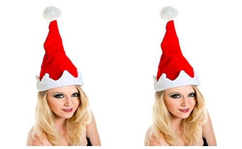 2 er Set Weihnachtsmütze Nikolausmütze Singend Tanzend Musik Wackelt hin und her X49