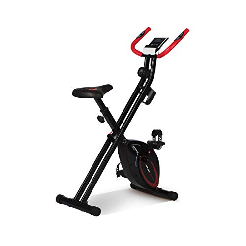 Ultrasport F-Bike, Bicycle Trainer, Home Trainer, Collapsible Exercise Bike with Training Computer and Hand Pulse Sensors, Black