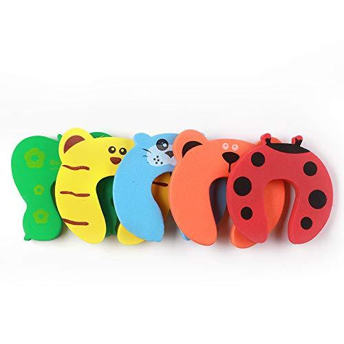CarMa [ 5 Stück] Türstopper Klemmschutz Tiermotive Finger Kinder Sicherheit Baby Schutz Sicherung Schaumstoff