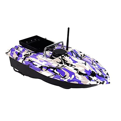 WQQWQQ Barco de Cebo, Morado frío Control Remoto Pesca Barco de Cebo, buscador de Pescado 1.5 kg Cargando 500m Control Remoto Pesca Bait Boat, Arrastre de Pesca con Control Remoto. (Color : Purple)
