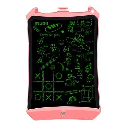 "Woxter Smart Pad 90 Pink - Pizarra electrónica, Tableta de escritura de 9"", Tonalidad Verde, Sensor de presión (10-200g), pila CR2016, Imanes para Nevera, color rosa"