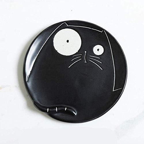 LUISONG FANMENGY Cup Animales Arte Decoraciones del Arte del Gato Taza de cerámica Hecha a Mano Taza Taza de café Taza de Gato Blanco y Negro 1 Hogar