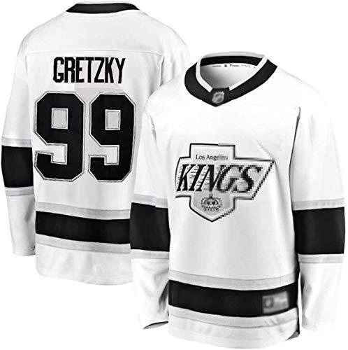 Kings Trikot # 11 Kopitar # 99 Gretzky # 32 Schnelles Trikot Eishockey Training Uniform Sporthemd (Color : 99, Size : 3XL)