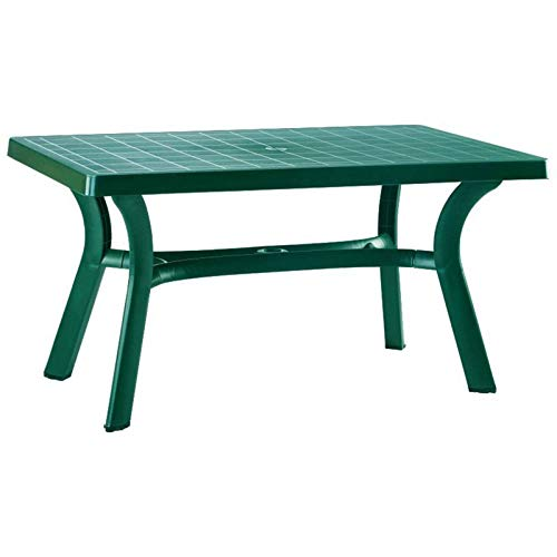 Atlin Designs 55' Resin Patio Dining Table in Green, Commercial Grade