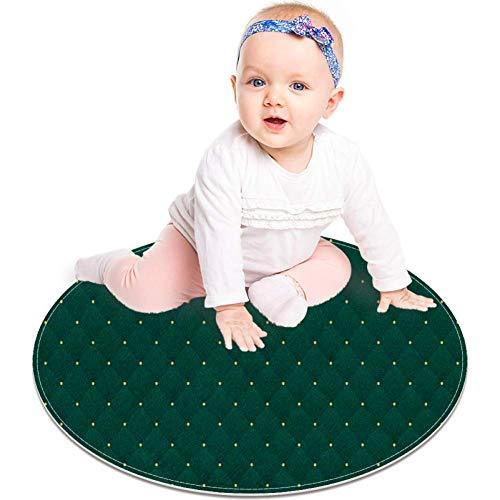 Bennigiry Teppich, rund, dunkelgrün, 60 cm