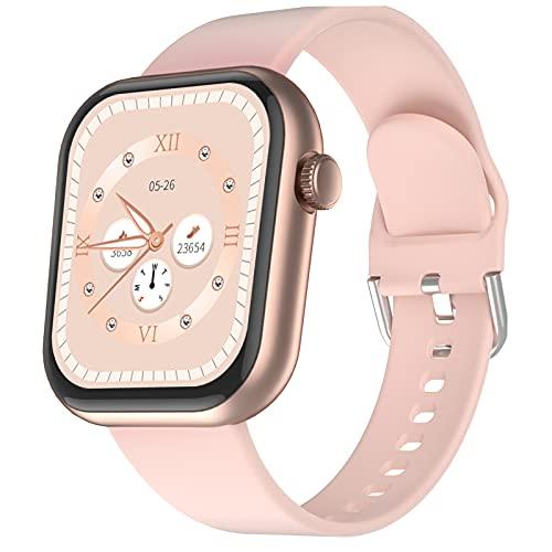 CUBOT Smartwatch, C5 Fitnessuhr Damen Herren, Armbanduhr mit IP68 Wasserdicht Sportuhr Smart Watch Herzfrequenz Messung Uhr, Fitness Tracker Schrittzähler, Pulsuhr, Schlafmonitor, Stoppuhr Pink
