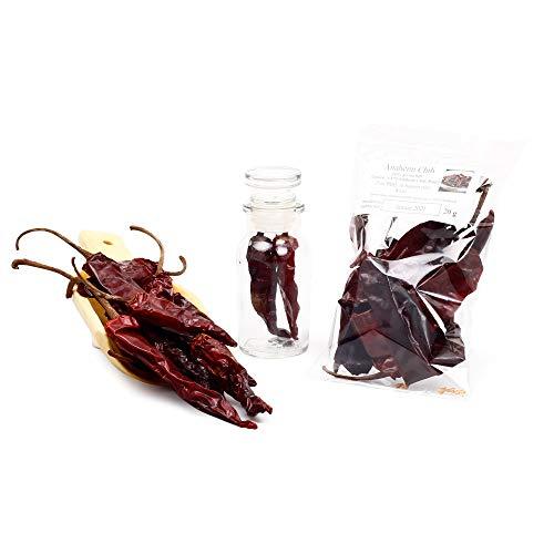 Anaheim Chili | New Mexico Chili leicht geräuchert | Peperoni ganze Chilischoten Mexican Gewürz | glutenfrei |20g