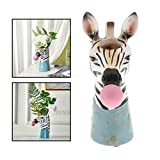Hzdmfgs Maceteros Cabeza Animal en Forma de suculento Pote Lindo Resina Flores secas pequeñas Bonsai Planta Maceta diminuta decoración Regalo para el hogar, jardín de Oficina (Color : Zebra)