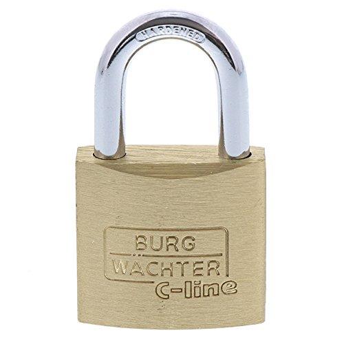 Burg-Wächter Vorhängeschloss, C-Line 222 25 SB, inkl. 2 Schlüssel, Bügelstärke: 4 mm