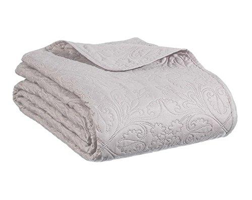 PEGANE Dessus de lit avec 2 taies Coloris Taupe - Dim : L. 260 x l. 240 x H. 0,2 cm