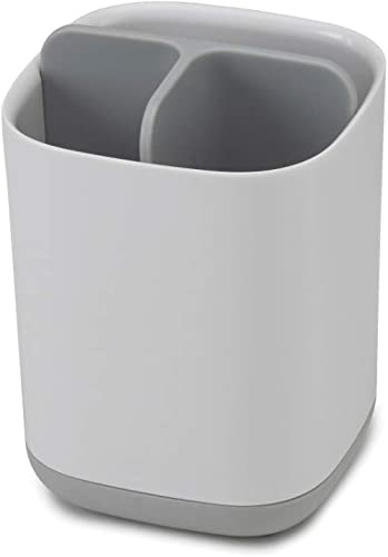 Joseph Joseph Easy-Store Toothbrush Caddy, Grey/White