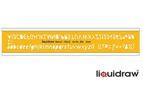 Vloeibaar Lettering Stencils voor Ambachten Engels Stencil Alfabet Nummer Tekening Tekening Sjabloon, Italiaans Lettertype 8mm