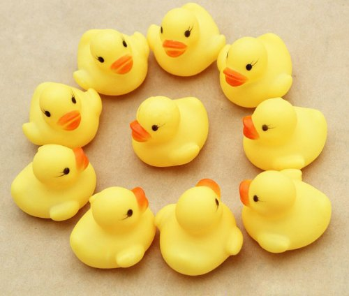 SunLife Mini Rubber Duck Ducky Duckie Baby Shower Birthday Party Favors 10pcs a Pack