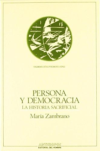 Persona Y Democracia de María Zambrano (1 may 2013) Tapa bl