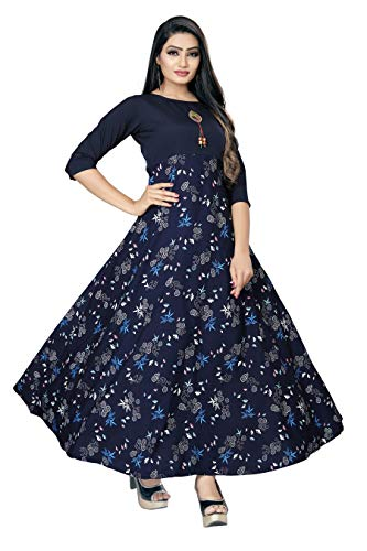 New ethnic 4 you Women's Western Crepe Fit and Flare...