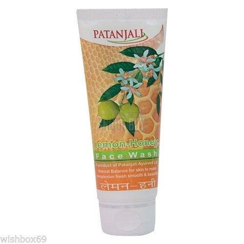 Patanjali Gesichtswasser mit Zitronen- und Honiggeschmack, ayurvedisch, seifenfrei, reinigt Schmutzöl, 2 x 60 g